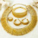 YIWU CZ Fashion African Beads <b>Jewelry</b> New Bright 18 Gold Charm Women Big Necklace Queen <b>Jewelry</b> Sets Nigerian Bride <b>Accessories</b>
