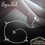 Special Brand Fashion 925 Sterling Silver Anklets Foot <b>Accessories</b> Geometry Ankle Bracelets Foot <b>Jewelry</b> Gifts for Women S1702A