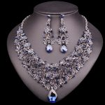 Fashion Necklace Earring Sets Vintage Bridal <b>Jewelry</b> Sets Rhinestone Party Wedding Prom Costume <b>Accessories</b> Decoration for Women