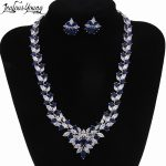 Top Cubic Zirconia Bridal <b>Jewelry</b> Sets Silver Color Flower Necklace Earrings Sets Wedding <b>Accessories</b> Bijoux Mariage AS024
