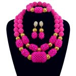 Necklace Set Gold-color Statement Necklace Earring Rose Crystal Nigerian Women <b>Accessories</b> African Beads <b>Jewelry</b> Sets