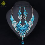 Fashion Rhinestone Wedding <b>Jewelry</b> Sets For Brides Prom Party Costume <b>Accessories</b> Bridal Necklace Earring Sets for Women