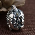 Between the deer King <b>jewelry</b> wholesale S925 Sterling Silver Pendant Silver <b>Antique</b> Crafts a new personality