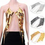 Hot Sex Fashion Body <b>Jewelry</b> Black & Silver & Gold Color Body Necklace for Summer Beach Bikini Holidays <b>Accessories</b>