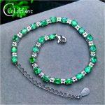 23 pieces natural emerald bracelet for wedding 3 mm * 4 mm oval cut emerald <b>silver</b> bracelet 925 <b>sterling</b> <b>silver</b> emerald <b>jewelry</b>