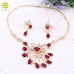 New Gorgeous <b>Jewelry</b> Phoenix Bird Rhinestone Crystal Statement Necklace Earring Wedding Party <b>Jewelry</b> Set For Brides <b>Accessories</b>