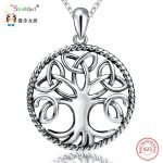 StrollGirl 925 Sterling Silver Chain Pendant Necklace Fashion <b>Jewelry</b> Tree of Life <b>Antique</b> Necklaces & Pendants For Women 2018