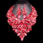 Big Crystal Bridal <b>Jewelry</b> Sets Wedding Party Costume <b>Accessory</b> Indian Necklace Earrings for bride Gorgeous jewellery sets Women
