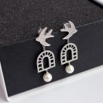 [IASK] <b>Jewelry</b> / 2018 New Fashion Personality 925 Silver Micro-inlaid Zircon Swallow Stud Earrings Women's <b>Accessories</b> S#R60800
