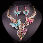 Bridal <b>Jewelry</b> Sets & More Wedding Necklace Earring For Brides Party <b>Accessories</b> Gold Color Butterfly Decoration Gift Women