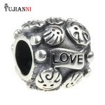 <b>Antique</b> 925 Sterling Silver LOVE and FAMILY Charms Fit European Women Beads Bracelet & Necklace <b>Jewelry</b>
