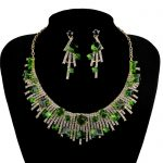 Green Color Cubic <b>Jewelry</b> Set Bridal Wedding Necklace with Earring For Brides Party <b>Accessories</b> <b>Jewelry</b> Crystal <b>Jewelry</b>
