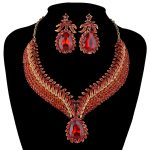 Africa Hot sale India <b>jewelry</b> Sets Bridal crystal Necklace earrings set Women Party Statement <b>Jewelry</b> set Dress <b>Accessories</b>