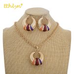 Ethlyn 2018 Wedding <b>Jewelry</b> for Women Colorful Drip Oil Big Pendant Necklace Ethnic Jewellery <b>Accessories</b> Earrings <b>Jewelry</b> Sets