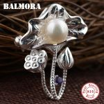 BALMORA 925 Sterling Silver Simulated Pearl Flower Brooches for Women Mother Gift Fashion <b>Jewelry</b> <b>Accessories</b> Brooch Pin SY13407