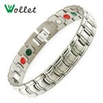 Wollet Fashion Costume <b>Jewelry</b> Healing FIR Magnetic Bracelet For Men Blood Pressure <b>Accessory</b> Stainless Steel Bracelet