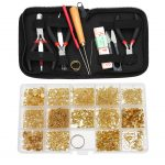 11pcs <b>Jewelry</b> Making Tool Kit + 15pcs <b>Jewelry</b> Making Findings Set for Design and Repair DIY Craft <b>Accessories</b>