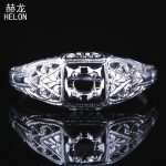 3mm Round Cut Semi mount Solid 10K (417) White Gold Engagement Wedding Women Fine <b>Jewelry</b> Antique <b>Art</b> <b>Deco</b> Party Ring Setting