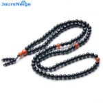 JoursNeige Natural Black Tourmalin Stone Crystal Round Beads for Women men Lovers Buddha Bracelet Necklace <b>Jewelry</b> <b>Accessories</b>