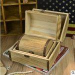 3sizes/set Vintage <b>Antique</b> Wooden Treasure Chest Storage Box Creativity Continental <b>Jewelry</b> box Make Up <b>Jewelry</b> Cosmetic Box