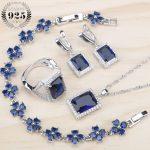 Wedding <b>Jewelry</b> Sets Silver 925 Jewellery For Women <b>Accessories</b> Bracelets/Earrings/Rings/Pendant/Necklace Set For 2018 Gift Box