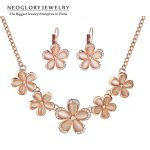 Neoglory Flower Rhinestone Opal Rose Gold Color <b>Jewelry</b> Sets for Women Fashion <b>Jewelry</b> <b>Accessories</b> Gifts Brand 2014 New CN2