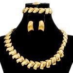 2018 Arab Fashion Women 18 Gold <b>Jewelry</b> Sets Simple Design Necklace Ring Bracelet Bridal Wedding Gift <b>Accessories</b>