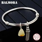 BALMORA 925 Sterling Silver Tassel Bangles for Women Mother Lover Gift about 18cm Fashion Bracelet <b>Jewelry</b> <b>Accessories</b> WBH0100
