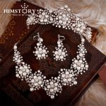 2017 Spring New Design Flower Crystal Pearl Bride 3pcs Set Necklace Earrings Tiara Bridal Wedding <b>Jewelry</b> Set <b>Accessories</b>