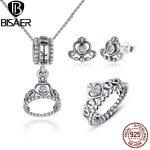 Genuine 925 Sterling Silver <b>Jewelry</b> Set My Princess Queen Crown & Clear CZ <b>Jewelry</b> Sets Wedding Engagement <b>Jewelry</b> <b>Accessories</b>