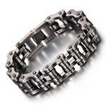 Biker Bicycle Motorcycle Chain Man Bracelets&Bangle Gun Black Stainless Steel Bracelet Men's Fashion <b>Jewelry</b> <b>Accessories</b>