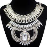 <b>Antique</b> Gold Egypt Cleopatra Snake Box Chain Crystal Statement Bib Necklace <b>Jewelry</b> 2018 New
