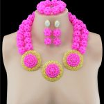Nigerian Wedding African Beads <b>Jewelry</b> Sets Collar Necklace Earrings Set For Women Crystal Fashion Party <b>Accessories</b>