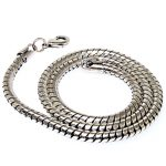 Big snake chain with lobster clasp necklace,fashion necklace ,<b>antique</b> silver plated man <b>jewelry</b>,man necklace