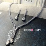 Simple Beauty Bridal CZ Necklace Earring Set Decoration Wedding <b>Accessories</b> Bridal <b>Jewelry</b> Party Gift