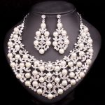 Fashion Jewellery Imitation Pearl Necklace Earrings Bridal <b>Jewelry</b> Sets For Brides Party Wedding Costume <b>Accessories</b> Decoration