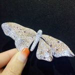 champagne big size butterfly brooch pins fashion women <b>jewelry</b> for coat luxury <b>jewelry</b> 34*94MM party brooch 925 <b>sterling</b> <b>silver</b>