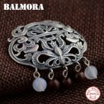 BALMORA 100% Real 925 Sterling Silver Hollow Pendants for Women Gift Vintage <b>Jewelry</b> Ball <b>Accessories</b> Without a Chain SY12170