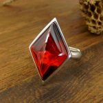 925 Sterling Silver Crystals Garnet Ring for Women Natural Semi-precious Stone <b>Jewelry</b> <b>Accessories</b> Girlfriend Gift Drop Shipping