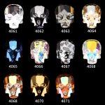 100Pcs FlatBack Skull ABCrystal Nail Rhinestones 3D DIY Symphony Charm Stones <b>Jewelry</b> Glitter Halloween Design <b>Deco</b> Nail <b>Art</b>