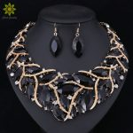 Fashion Bridal <b>Jewelry</b> Sets Wedding Necklace Earring Ring For Brides Party Prom Costume <b>Accessories</b> Decoration Women