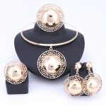 Wedding Bridal <b>Jewelry</b> Sets For Women Necklace Bracelet Earrings Rings Gold Color Dubai African Beads Statement <b>Accessories</b>