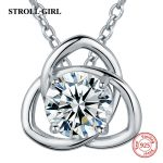 100% sterling silver 925 diy design women chain pendant necklace with big CZ European fashion <b>jewelry</b> <b>accessories</b> making gifts