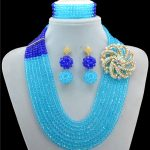 Fine African Beads <b>Jewelry</b> Sets Crystal Necklace Set Nigerian Wedding <b>Accessories</b> Bridal Collares Costume Necklace Earrings Set
