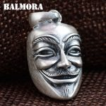 BALMORA 100% Real 990 Pure Silver Punk Ghost Pendants for Men Cool <b>Jewelry</b> Gift Without a Chain Pendant <b>Accessories</b> SY12952