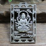 Do the old <b>antique</b> <b>jewelry</b> brand hollow carved exquisite Cupronickel Avalokitesvara Pendant #5567