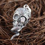 King Deer skull S925 sterling silver <b>jewelry</b> <b>jewelry</b> wholesale Silver <b>Antique</b> Style cool struck