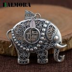 BALMORA Authentic 990 Silver Elephant Pendants Women Men Child Accessories Gift <b>Antique</b> Animal Blessing Mascot <b>Jewelry</b> SY13424