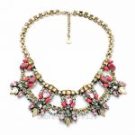 2017 Pop Women Accessories Bib Statements <b>Antique</b> Gold Color Necklace From Queen's <b>Jewelry</b>