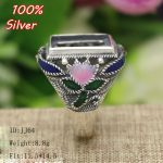 Vintage 100% sterling silver <b>jewelry</b> Ring Base Fit Squre 15*12mm Cloisonne Classic <b>Antique</b> Bronze Blank Tray diy Handmade Rings